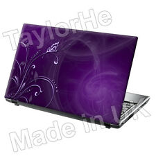 "15.6"" Laptop Skin Cover Sticker Purple Butterfly 15"