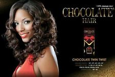 CHOCOLATE TWIN TWIST BY EVERTRESS 100% HUMAN HAIR WEAVE EXTENSION 10, 12, 14