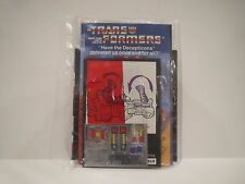 Vintage G1 Transformers TANTRUM SEALED PAPERWORK-STICKERS all ORIGINAL predaking