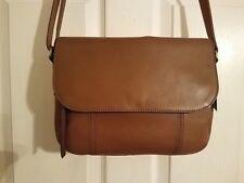NWT FOSSIL MOLLY Flap Crossbody Shoulder Bag BROWN Handbag Satchel Tote