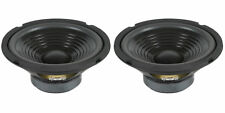 "NEW (2) 8"" Woofer Speakers.8 ohm PAIR.Stereo Sound Replacements.eight inch Audio"