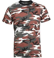 100% Cotton T-SHIRT Camo Army CAMOUFLAGE Army British Military Hunting Fishing