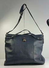 $238 Tommy Hilfiger Carpenter Navy Genuine Leather Tote Shoulder Handbag Bag