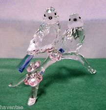 BLUE TITS CHICKADEES BIRD CRYSTAL BIRDS 2014 SWAROVSKI #5004727