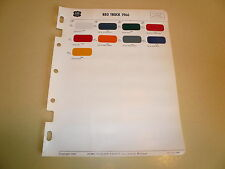 1966 REO Truck Trailmobile Acme Color Chips