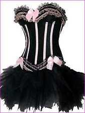 Burlesque Moulin Rouge Lolita FANCY DRESS Corset & Tutu
