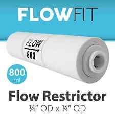Reverse Osmosis Flow Restrictor with Quick Connect 800 ML for 100+ GPD Membrane