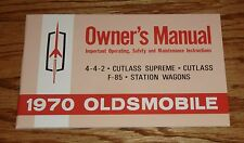 1970 Oldsmobile Cutlass 442 F-85 Owners Operators Manual 70