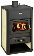 Wood Burning Stove Boiler Multi Fuel Color Fireplace Water Jacket  Prity S1 W10