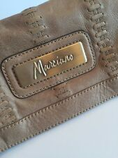 Guess By Marciano Angelique Fold Over Full Grain Leather Clutch