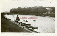 REAL PHOTOGRAPHIC POSTCARD OF THE CANOE LAKE, RYDE, ISLE OF WIGHT, HAMPSHIRE