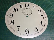 "12-3/8"" Painted Metal Clock Dial-Arabic for ST # 2 Trap Movement"
