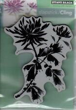 New Cling Penny Black RUBBER STAMP FLOWERS BEJEWELED FREE USA SHIP
