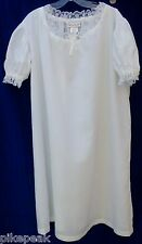 American Girl Felicity's Night Shift white nightgown Girls L 14/16 summer weight