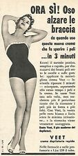 W8660 VEET crema depilatoria rapida - Pubblicità del 1958 - Vintage advertising