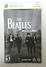 Xbox 360 The Beatles Rockband Instruction Booklet Insert Only Microsoft