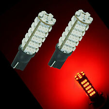 2x 68 1210 3020 SMD LED Sidelight Dashboard Gauge Light bulbs T10 501 W5W RED