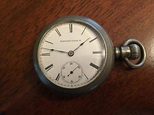 1888 Elgin 18s H.H. Taylor 15j True Train Railroad ADJ Pocket Watch Dueber Case