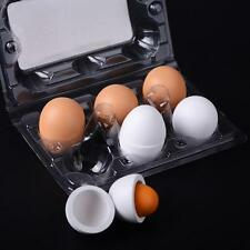 Set Of Wooden Eggs Yolk Pretend Play Kitchen Food Cooking Kids Children Toy Gift