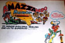 1972 FRANCISCO MAZZA ORIGINAL ART COVER SIGNED AMAZZANDO #1 ARGENTINA