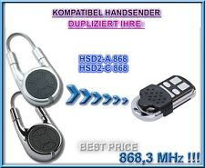 Hörmann HSD2-A, HSD2-C kompatibel handsender, 868,3MHz Klone.NOT MADE BY Hörmann