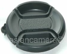 2 x Front Lens Cap For Canon Powershot Sx20 IS + Keeper Snap-on Duct Glass Cover