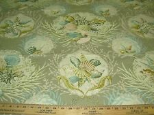 """~20 YDS~COVINGTON~""""SEAWORTHY""""SEALIFE SEAHORSE~COTTON UPHOLSTERY FABRIC FOR LESS~"""