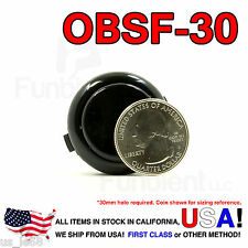 Sanwa Denshi Original OBSF-30 Black Push Button JAMMA guitar kill switch 30mm