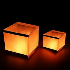 Pack of 20 Water Floating Candle Lanterns Outdoor Biodegradable Lanterns for