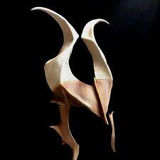 Tan Cosplay Horns DRAGON HORNS Textured Matte Demon Horns Comicon LARP Halloween