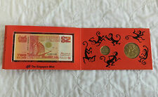 SINGAPORE YEAR OF THE MONKEY 1992 BANKNOTE & MEDALLION - COIN SET - sealed pack