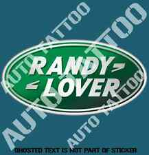 RANDY LOVER DECAL STICKER 4X4 AWD OFF ROAD ROVER RALLY NOVELTY DECALS STICKER