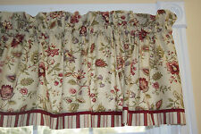 Longford Waverly Beige Red Green Purple Toile Valance 17 X 53 Dra Wt Curtain