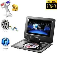 "10.1"" Portable Swivel Screen Multimedia TV MP3 CD DVD Player Game SD USB AV X9W7"