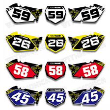 For SUZUKI RM125 RM250 01 02 03 04 05 Custom Number Plate Background Graphic Kit