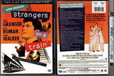 2-DVD Alfred Hitchcock STRANGERS ON A TRAIN Preview+Theatrical Cut R1 OOP NEW