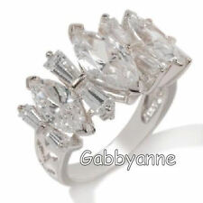 Xavier 5.32ct Absolute Marquise and Baguette Wrap Ring Size 6