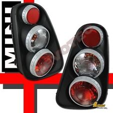 APC Tail Lights Fits 02-06 Mini Cooper Black Lamps Euro Retro 3d Flat