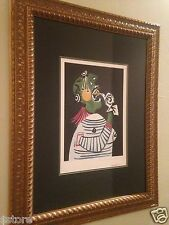 """Picasso's Lithograph Limited Edition 12 of 500 """"Women in Distress"""" Nicely Framed"""