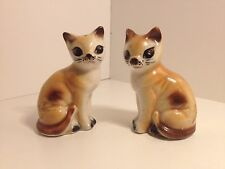 VINTAGE RARE EARLY JAPAN CAT SALT AND PEPPER SHAKERS