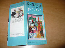 AVIAZIONE BROCHURE CANADA FLY THERE BY B.O.A.C. ARGONAUT HERMES STRATOCRUISER