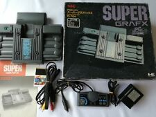 NEC PC Engine SuperGrafx(TurboGrafx-16)Console,pad,AV cable,PSU,Game,Boxed -A2-