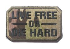 LIVE FREE OR DIE HARD USA ARMY U.S. TACTICAL MILITARY EMBROIDERED PATCH SK+ 568