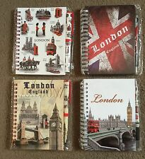 4 X LONDON NOTE PAD DIARY WITH LONDON PEN BRITISH ENGLAND UK SOUVENIR GIFT