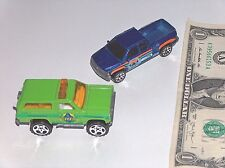 2 Matchbox Chief Diecast Trucks 1989 Chevy Blazer 4x4, 1999 Chevrolet Silverado
