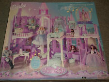 RARE BARBIE SWAN LAKE  MUSICAL FANTASY LIGHTED CASTLE BARBIE DOLL HOUSE NEW