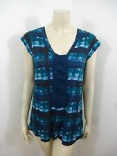 Silence+Noise Anthropologie NWT Multi-Color Cap Sleeve Woman Top Blouse Size S