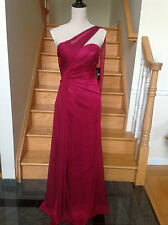FAVIANA 7180 Prom RED VELVET One Shoulder Chiffon Dress  Sizes  0  2