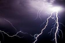 Encadrée Imprimer-électrique d'orage (photo orage météo art)