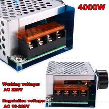 4000W AC 220V SCR Voltage Regulator adjust Motor Speed Control Dimmer Thermostat
